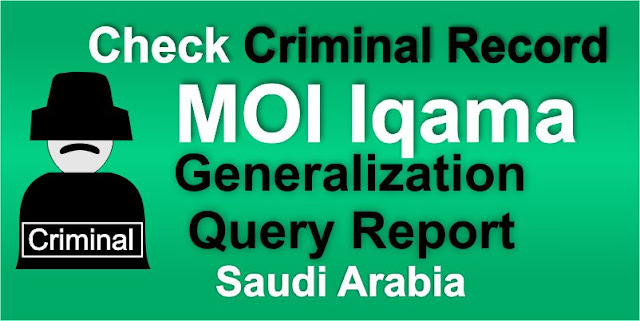 Check Generalization Criminal Record KSA