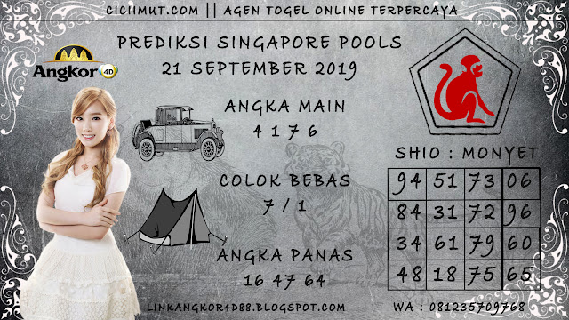 PREDIKSI SINGAPORE POOLS 21 SEPTEMBER 2019