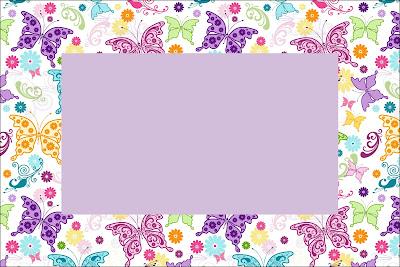 Invitaciones de mariposas para imprimir gratis ideas y for Cuadros rectangulares grandes