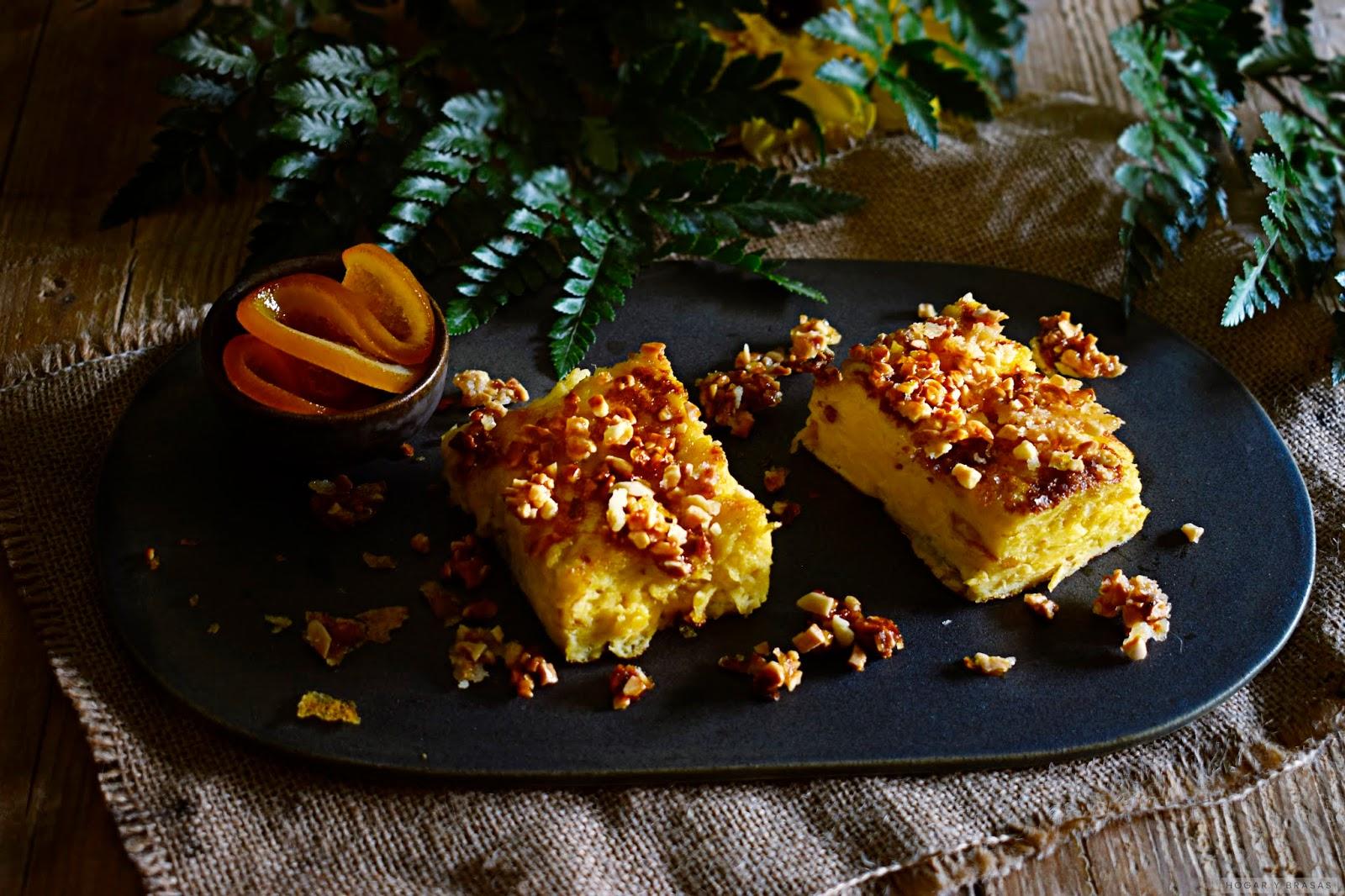 Tortilla dulce con almendra caramelizada