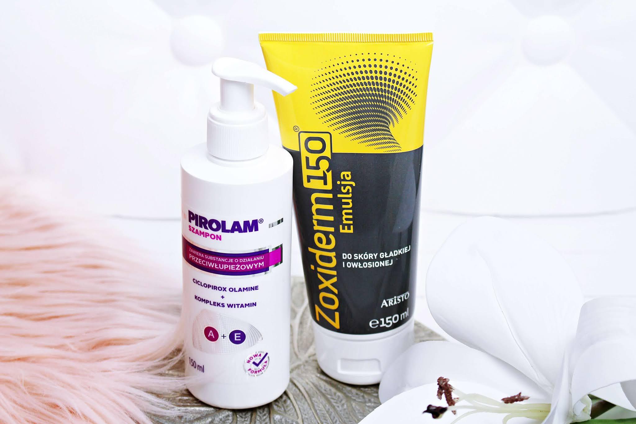 Jak pozbyć się łupieżu? Szampon przeciwłupieżowy Pirolam + Emulsja przeciwłupieżowa do skóry głowy Zoxiderm