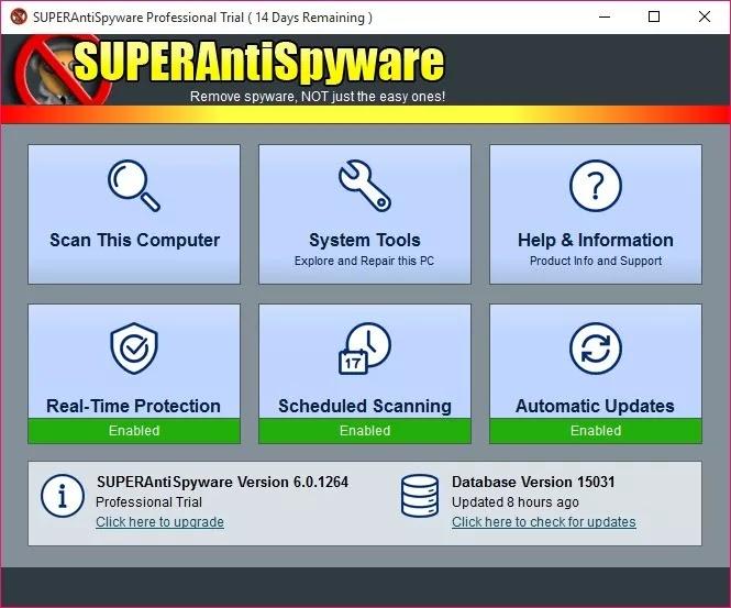 تحميل برنامج SUPERAntiSpyware Professional X 10.0.1202 للعثور على الملفات الضارة وتنظيفها