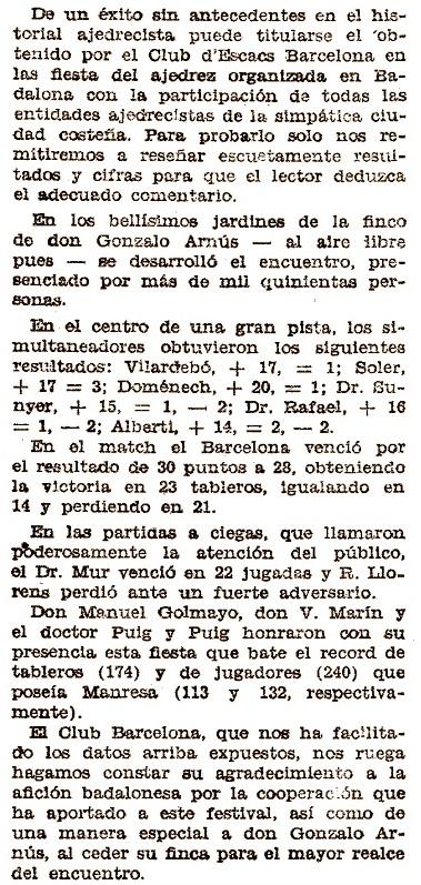 Recorte de El Mundo Deportivo, 15/6/1933