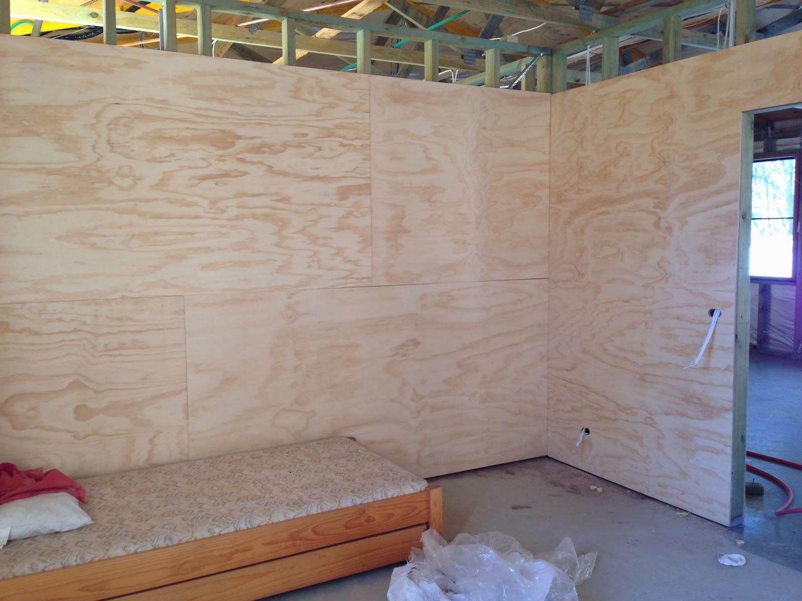 garage ceiling ideas drywall plywood etc - The Taj Garage Interior lining