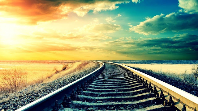 Love is a train running on endless tracks