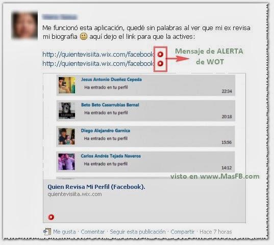 Revisar Biografia Facebook Fraude