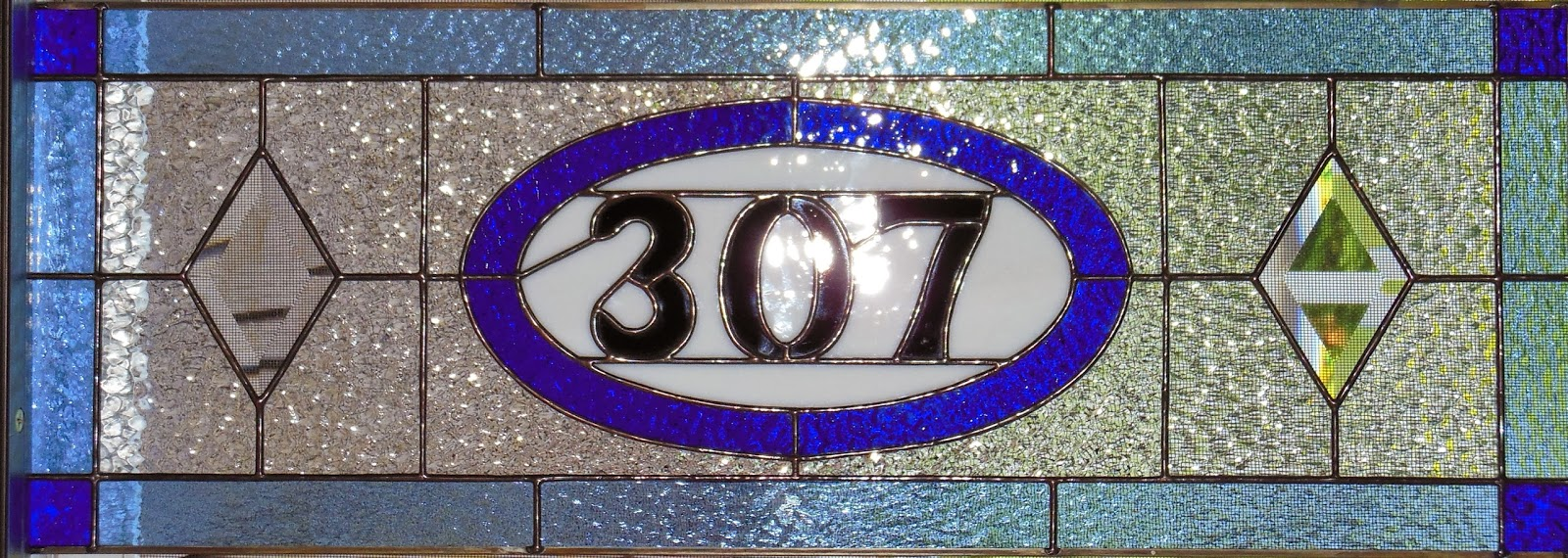 Decorative House Numbers Vintage Style Stained Glass Baltimore Washington Dc