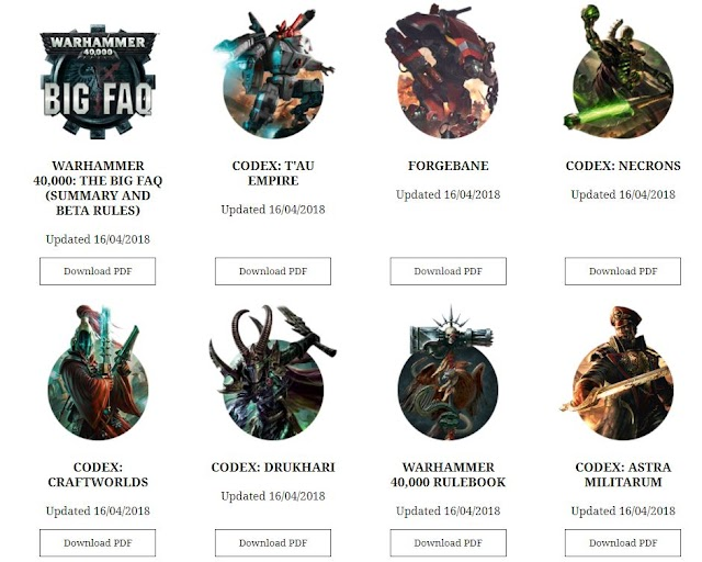 40k Codex FAQs Just Went Live