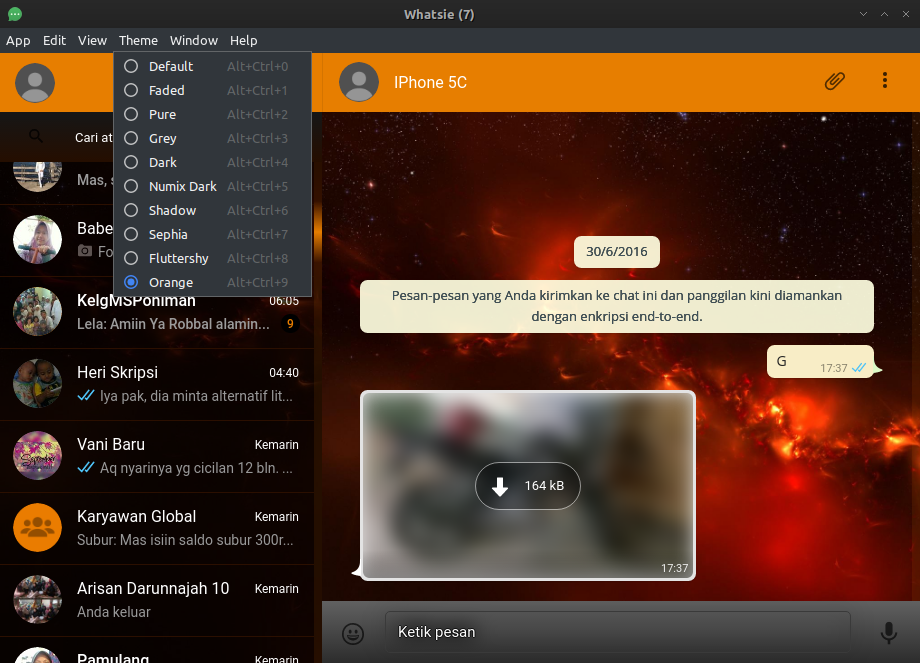 Whatsie - Use Whatsapp on Archlinux