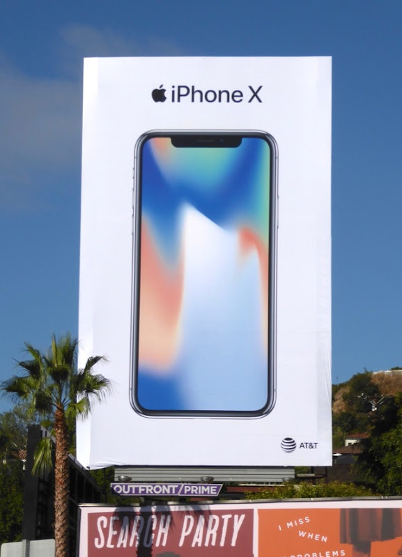 Apple iPhone X billboard