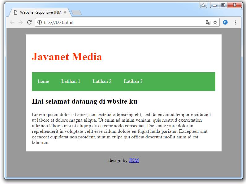 website responsive dengan html 5