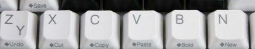 لوحة المفاتيح التراجع عن قص ولصق النسخ