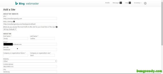 Cara Submit Dan Mendaftarkan Blog Ke Bing Webmaster Terbaru