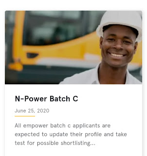 New Update: All empower batch c applicants are expected to update their profile