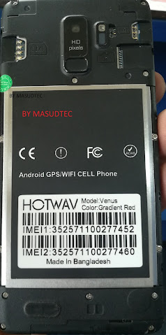 HOTWAV Venus Red T9  FLASH FILE WITHOUT PASSWORD
