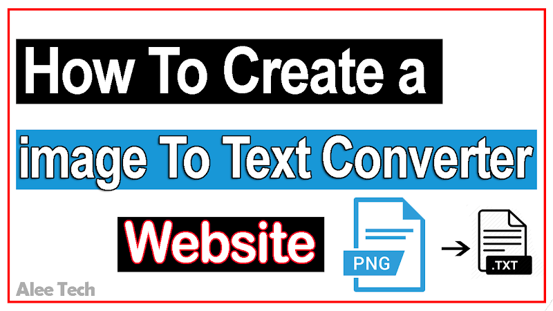 image To Text Converter HTML Blogger Script