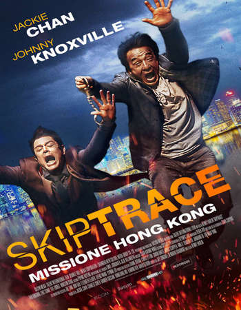 Poster Of Skiptrace 2016 English 450MB BRRip 720p ESubs HEVC Free Download Watch Online Downloadhub.Net