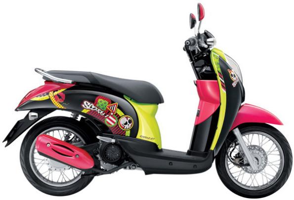 Modifikasi motor honda matic scoopy thailook ala thailand ceper keren terbaru