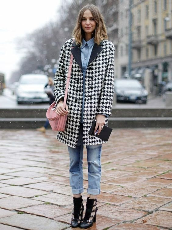 Como usar xadrez no looks de inverno