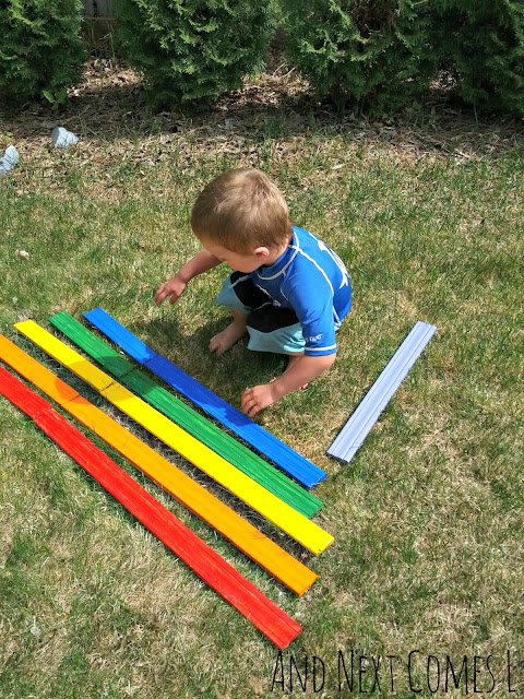 Making a DIY outdoor xylophone for kids