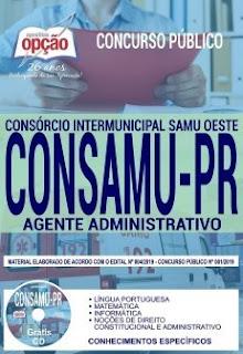 Download Apostila Concurso CONSAMU PR 2019 PDF