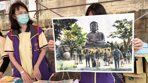 彰化大佛寫生比賽 彩繪出彰化居民共同記憶