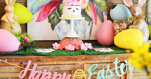 {My Parties} Easter Bunny Party and DIY Easter Bunny Cake