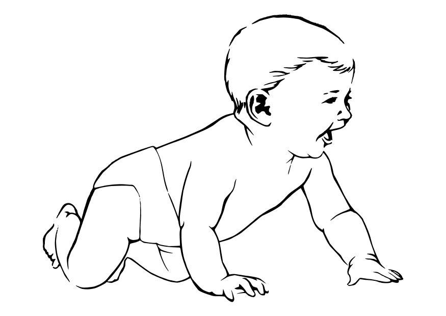 Dibujos Animados De Bebes Para Colorear: Dibujos Para Imprimir Y Colorear: Bebés Para Colorear