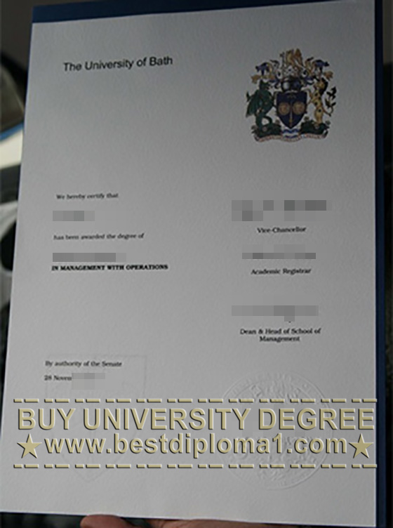 Fake University of Bath diploma