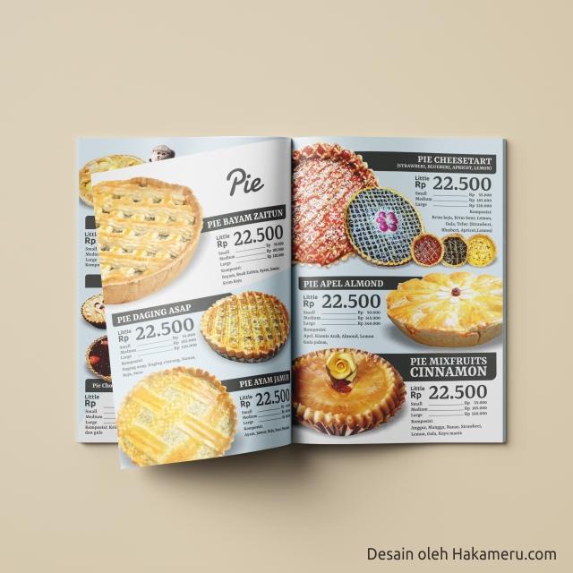 Desain katalog pie desain katalog menu pie untuk UKM UMKM IKM