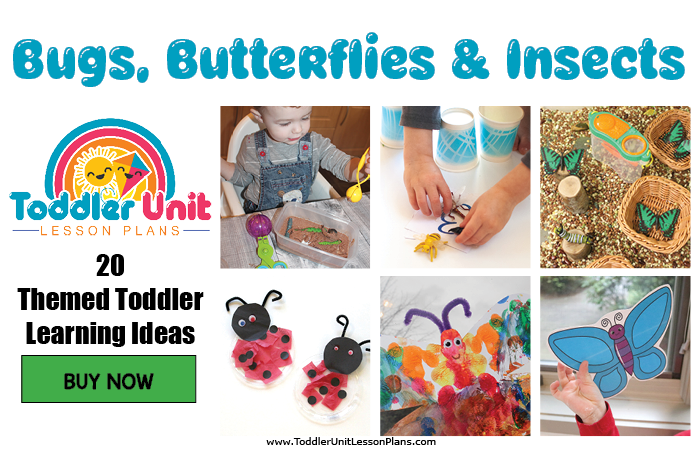 Toddler lesson plans - bugs, butterflies and insects