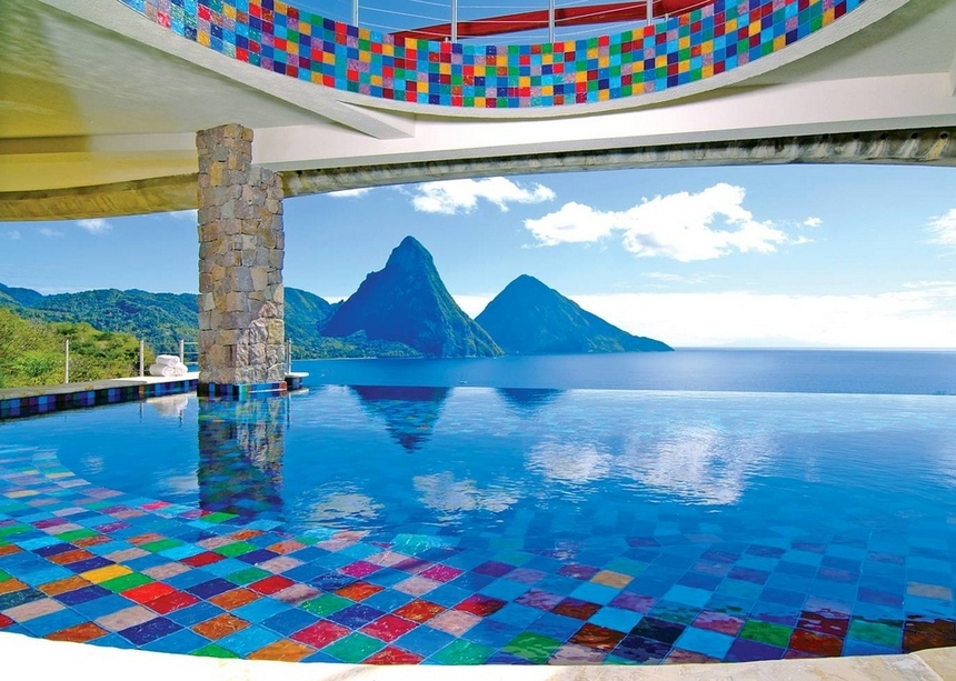 12. Jade Mountain Resort, St. Lucia