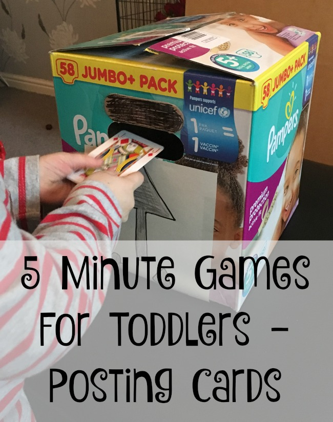 5-minute-games-for-toddlers-posting-cards-text-over-image-of-toddler-with-playing-card