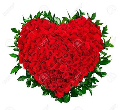باقة ورد حمراء رومانسية