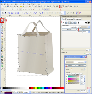 Vector Canvas Bag Re-Shading