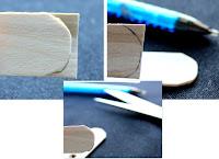 découper les batonnets de glace du sapin en bois DIY