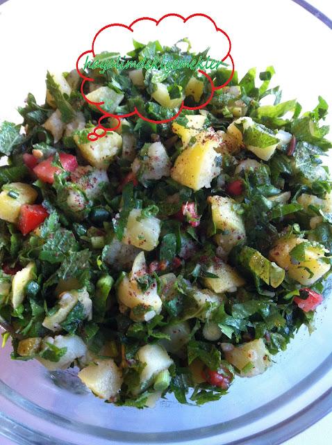 Patates Salatasi Tarifi,patates salatasi nasil yapilir resimli
