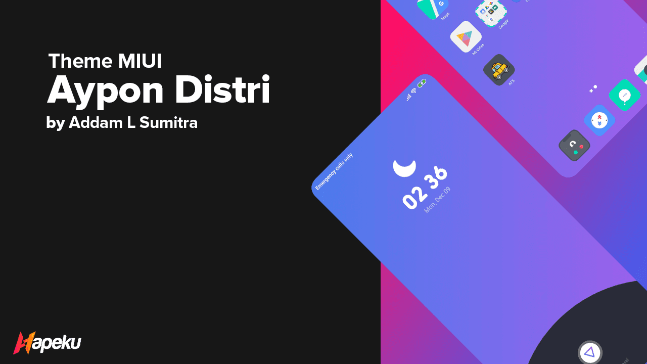 Theme Aypon Distri for MIUI 10 & 11 ( XIAOMI )