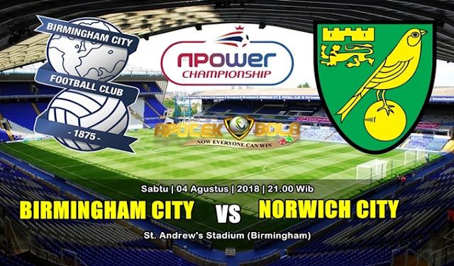 Prediksi Birmingham City vs Norwich City 4 Agustus 2018
