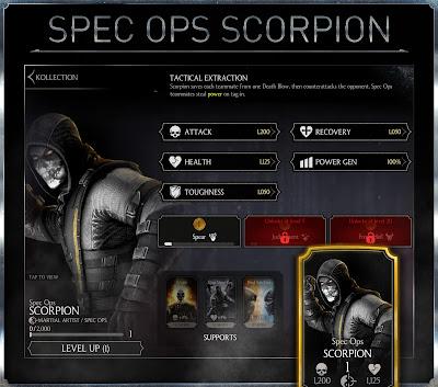 MKX mobile - Scorpion Operazioni Speciali