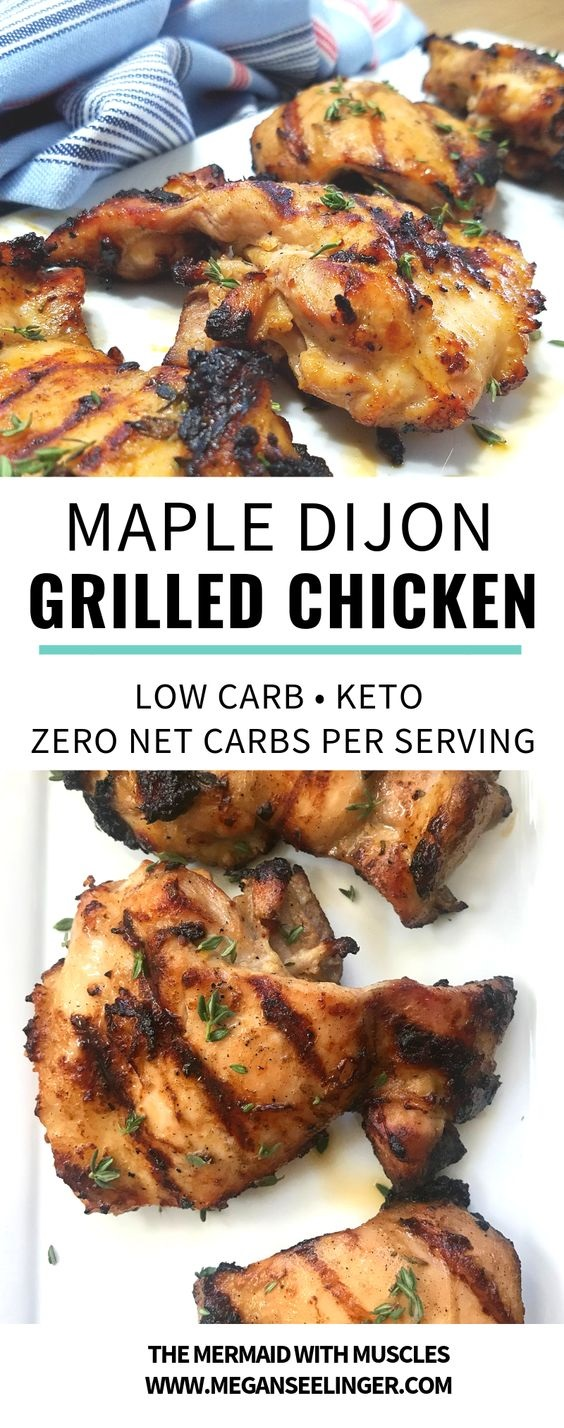 Keto Grilled Chicken Thighs With Maple Dijon Marinade