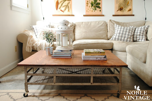 industrial car carrier top coffee table