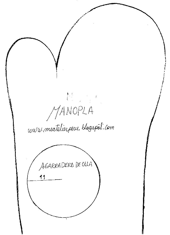 MI ATELIER-VERÓNICA: MANOPLA DE COCINA