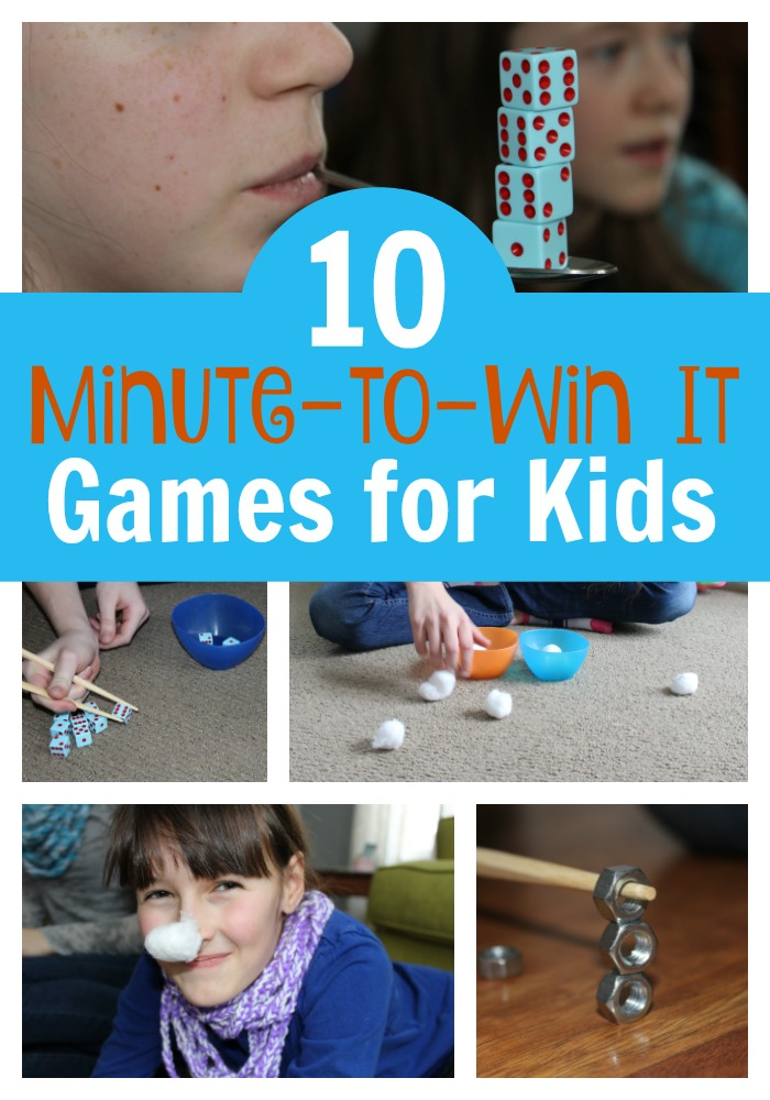 12 Easy Minute to Win It Games for Kids - PrepScholar