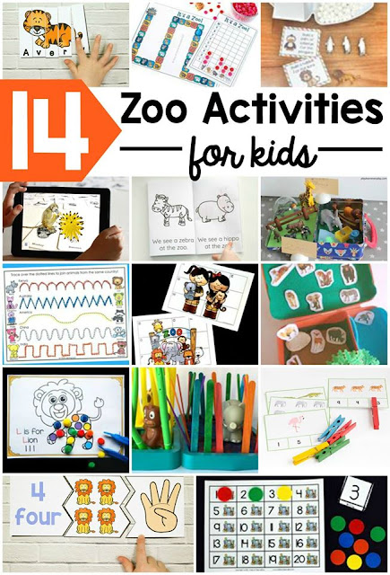 Preschool zoo activities for kids