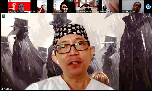 Hadirkan Dokter Ryu Hasan, Alumni 1990 SMA Negeri 1 Wonogiri Bahas Seputar Pandemi Via Daring