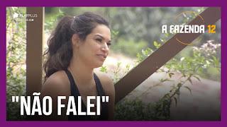 A Fazenda 12 –  Luiza critica Raissa – Luiza discute relacionamento de Jakelyne e Mariano