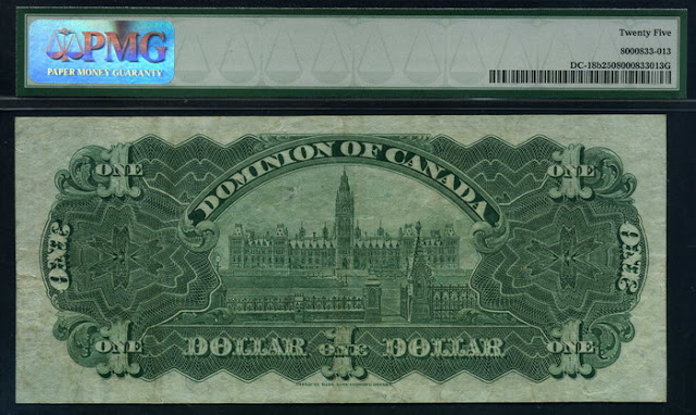 Dominion of Canada banknotes Dollar note