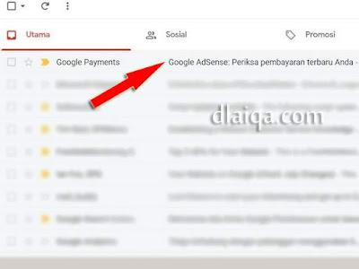 email dari Google Payments