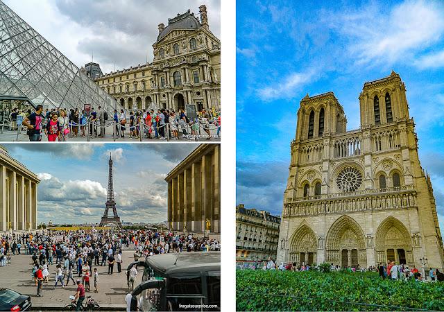 Atrações de Paris: Museu do Louvre, Torre Eiffel e Catedral de Notre Dame